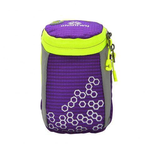 Online Outdoor Round Letter Pattern Arm Bag - PURPLE  Mobile
