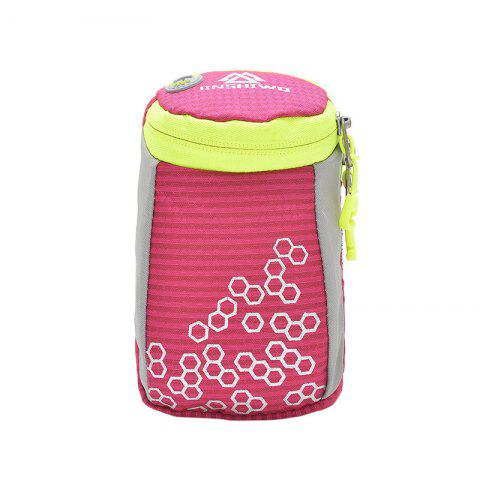 Best Outdoor Round Letter Pattern Arm Bag - ROSE RED  Mobile