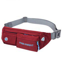 Freeknight Nylon Headphone Jack Waterproof Waist Bag - WINE RED