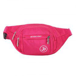 Outdoor Letter Pattern Waterproof Nylon Waist Bag