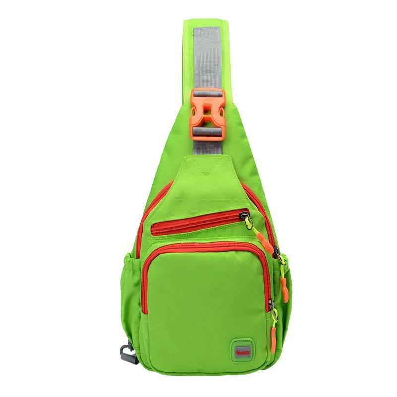 Outdoor Multipurpose Waterproof Chest BagHOME<br><br>Color: GREEN; Type: Chest Bag; For: Camping,Casual,Climbing,Cycling,Hiking,Sports,Traveling; Material: Nylon; Features: Waterproof; Closure Type: Zipper; Bag Capacity: 19*10*32CM; Weight: 1.2000kg; Package Contents: 1 x Chest Bag;