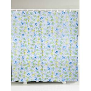Waterproof Fish Print Shower Curtain - White - W71 Inch * L71 Inch