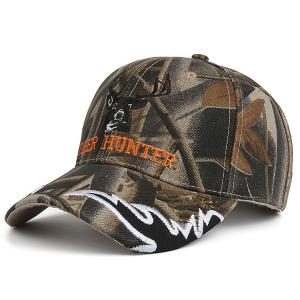 Camo Letters Deer Head Embroidered Baseball Hat