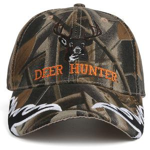 Colormix Camo Letters Deer Head Embroidered Baseball Hat