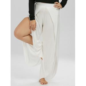 Plus Size High Slit Wide Leg Pants