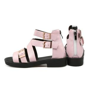 PU Leather Buckle Straps Sandals -