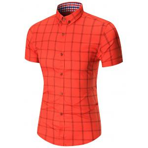 Short Sleeve Button Down Checked Shirt