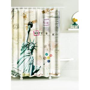 Statue of Liberty Water Resistant Fabric Shower Curtain