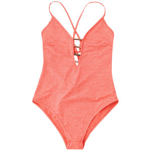 Plunge Lace Up Monokini -