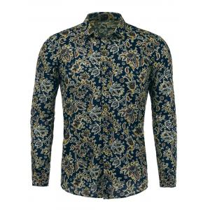 Long Sleeves Paisleys Print Shirt