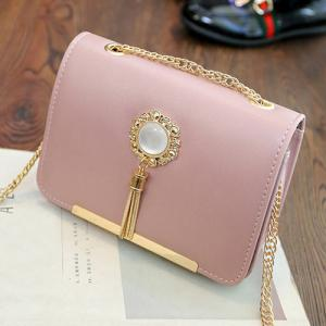 Chain Tassel Crossbody Bag - PINK