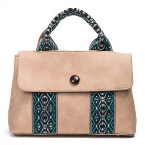 Ethnic Jacquard PU Leather Handbag