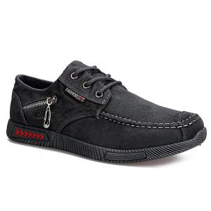 Stitching Zipper Casual Shoes
