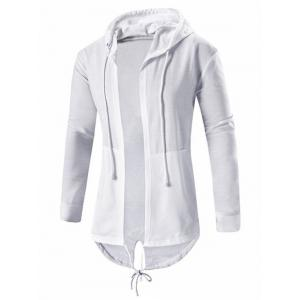 High Low Open Front Hooded Coat
