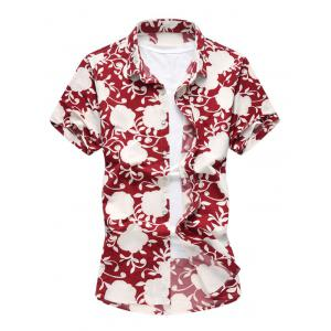 Short Sleeves Print Hawaiian Shirt