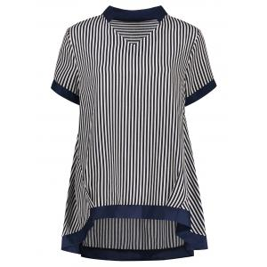 Striped Plus Size Short Sleeve Top