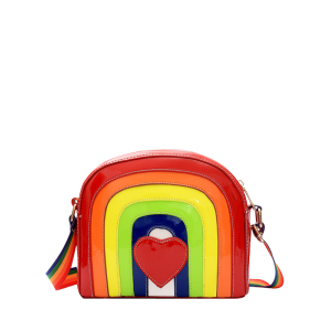 Cross Body Patent Leather Rainbow Bag