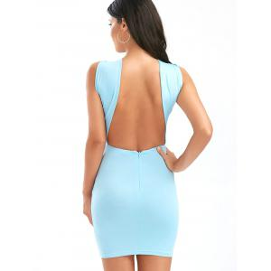 Ruched Bust Backless Cut Out Halter Club Dress -