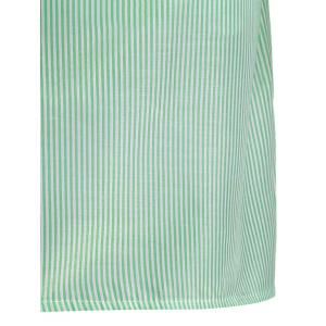 Off The Shoulder Flounce Striped Shirt Dress - LIGHT GREEN XL