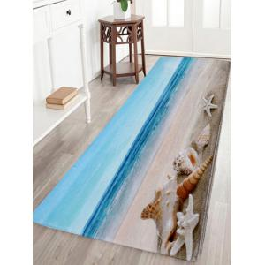 Non-Slip Beach Scenery Soft Coral Fleece Area Rug