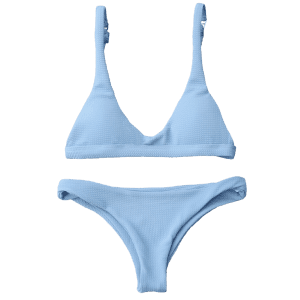 Padded Scoop Neck Bikini Set -