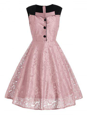 Robe de cocktail Swing Formal Swing ROSE PÂLE 2XL