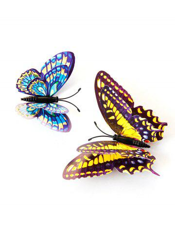 Outfits 12 PCS 3D DIY Noctilucence Butterfly Wall Sticker - COLORFUL  Mobile