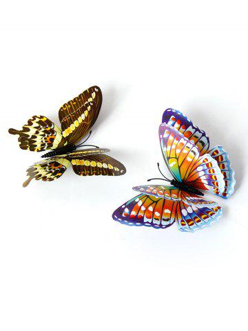 Cheap 12 PCS 3D DIY Noctilucence Butterfly Wall Sticker - COLORFUL  Mobile
