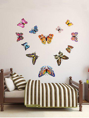Best 12 PCS 3D DIY Noctilucence Butterfly Wall Sticker - COLORFUL  Mobile