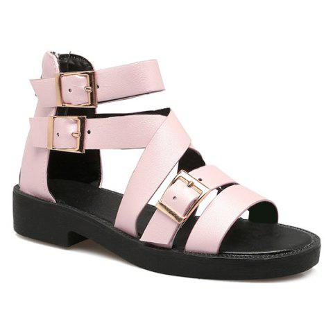 Unique PU Leather Buckle Straps Sandals