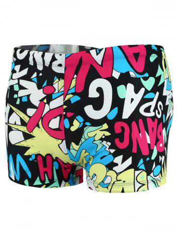 Shop Colorful Graphic Pattern Swimming Trunks - XL COLORMIX Mobile