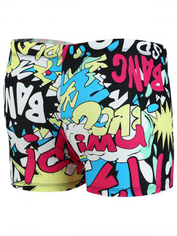 Fashion Colorful Graphic Pattern Swimming Trunks - XL COLORMIX Mobile