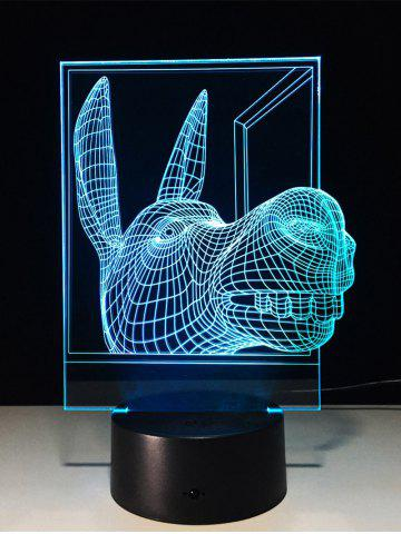 Outfits 3D Visual Color Change Donkey Shape Touch Night Light - TRANSPARENT  Mobile