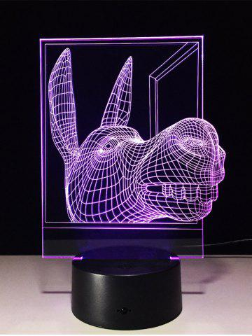 New 3D Visual Color Change Donkey Shape Touch Night Light - TRANSPARENT  Mobile