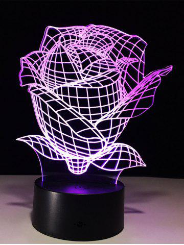 Store Color Change 3D Visual Rose Shape Touch Night Light - TRANSPARENT  Mobile