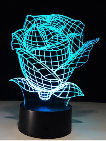 New Color Change 3D Visual Rose Shape Touch Night Light - TRANSPARENT  Mobile