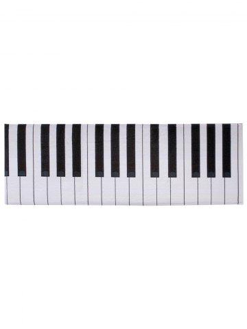 Buy Home Floor Decor Coral Velvet Piano Keyboard Area Rug - W16 INCH * L47 INCH BLACK WHITE Mobile