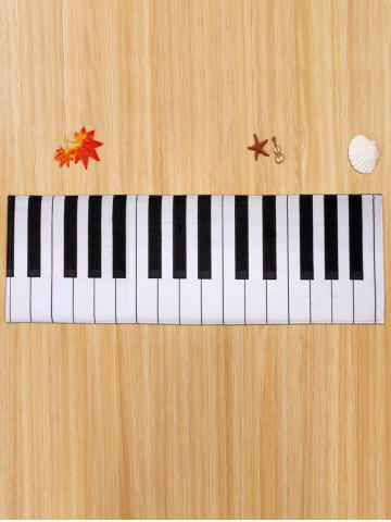 Store Home Floor Decor Coral Velvet Piano Keyboard Area Rug - W16 INCH * L47 INCH BLACK WHITE Mobile