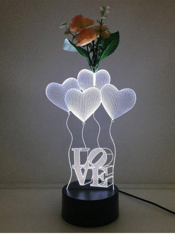 Buy Flower Decorated 3D Heart Touch Color Change Night Light - TRANSPARENT  Mobile