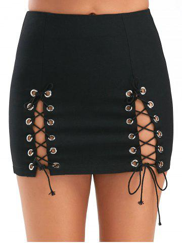 Fashion High Slit High Waisted Club Mini Skirt