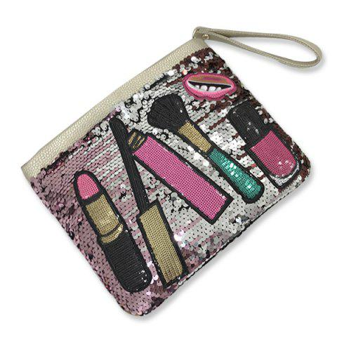 Latest Cosmetic Pattern Sequin Clutch Bag