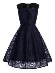 Short Lace Skater Formal Swing Dress