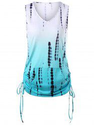 Tie Dye Ombre Tank Top With Kangaroo Pocket