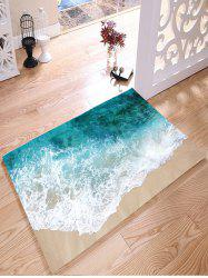 Sea Beach Print Flanel Skidproof Water Absorb Carpet - Multicolore