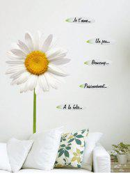 Sunflower Letter Petals Decorative Wall Decals