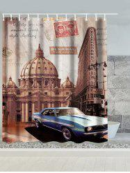 Vintage Australia Building Car Waterproof Bath Curtain