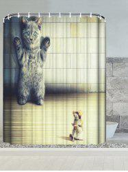 Cat and Mouse Waterproof Bathroom Shower Curtain