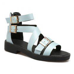 PU Leather Buckle Straps Sandals