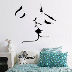 Romantic Kiss Removable Wall Art Stickers