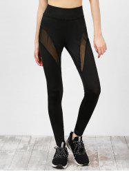High Waist Mesh Panel Gym Leggings